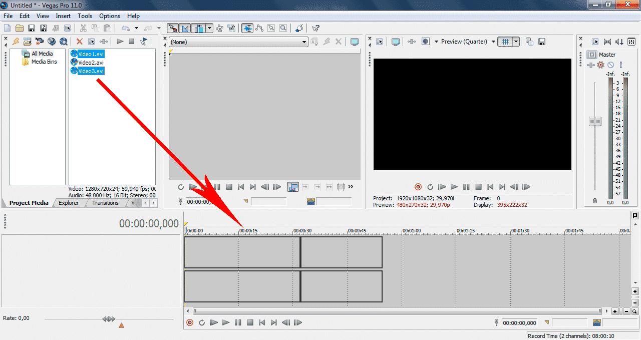 Как сохранить видео в Sony Vegas Pro 2