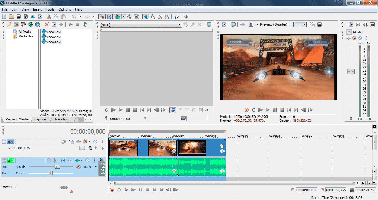 Как сохранить видео в Sony Vegas Pro 5