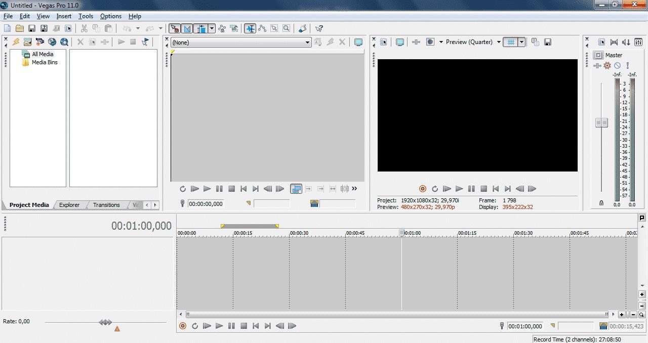 программа для монтажа Sony Vegas Pro