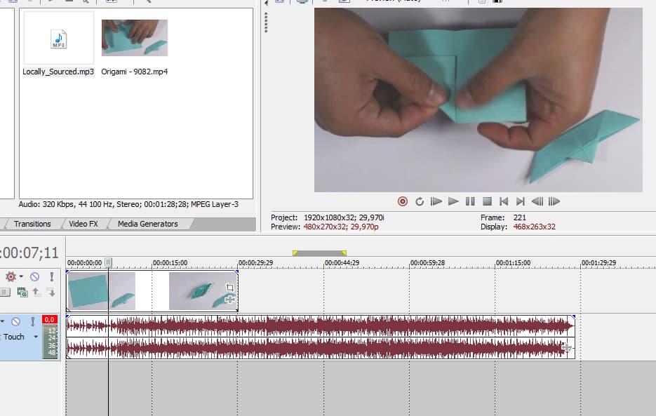 Как замедлить и ускорить видео в Sony Vegas