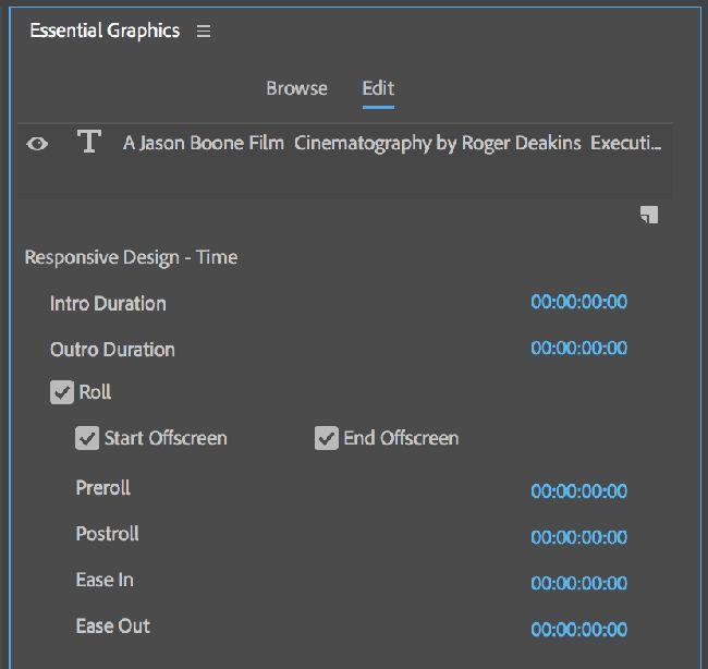 Выбор панели - Essential Graphics
