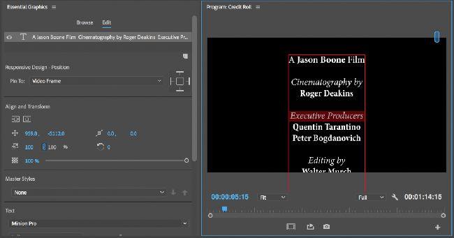 Форматирование текста в Essential Graphics