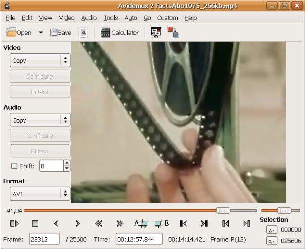 Видеоредактор с открытым исходным кодом - Avidemux