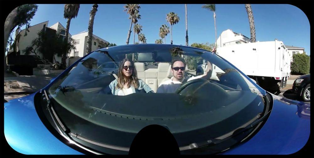 Камера 360 установленная на машине.