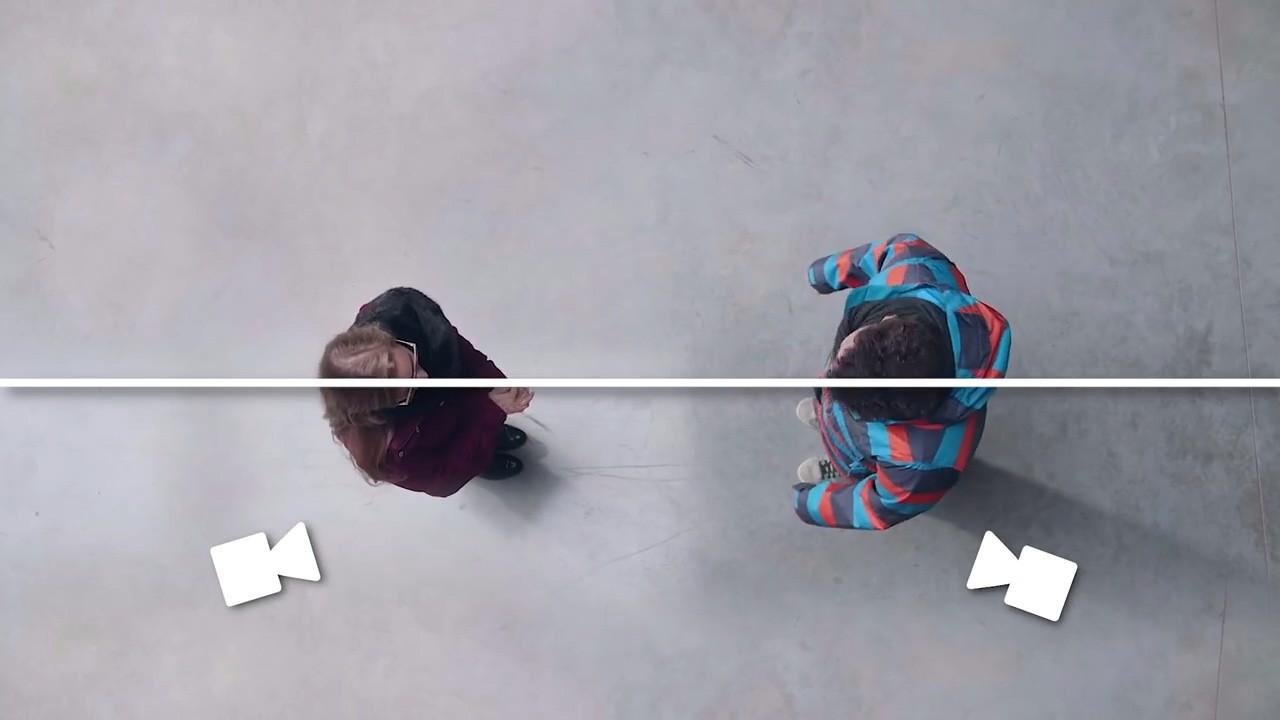 Съемка двух человек по правилу 180 градусов