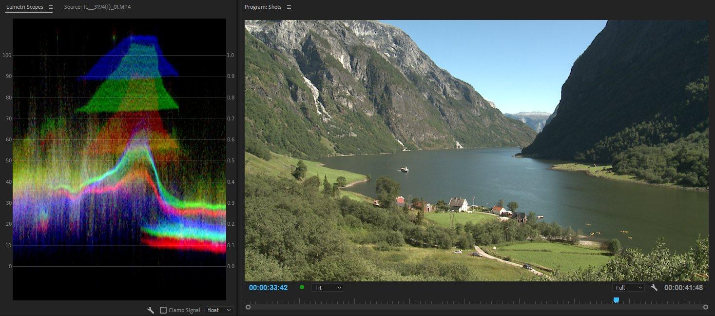 Здесь мы можем ясно видеть, что темные пиксели справа имеют намного более высокие уровни в зеленом, чем в красном и синем.И область с яркими пикселями в середине явно имеет в основном синий цвет, но также и зеленый, и очень маленький красный