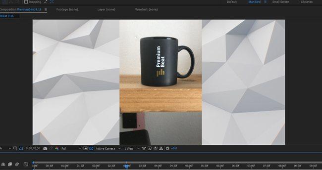 Добавление фонового, зацикленного видео к вертикальному видео.