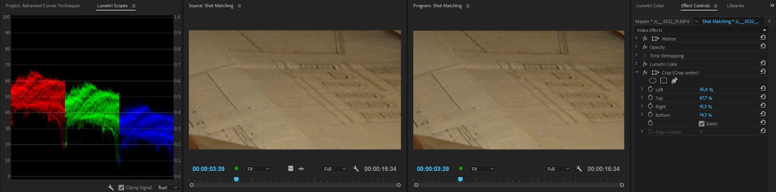 Использование инструмента Crop в Adobe Premiere Pro CC