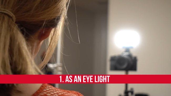 LED освещение в видео. Подсветка глаз.