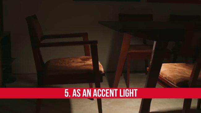 LED освещение в видео. Подчеркивающий свет 1