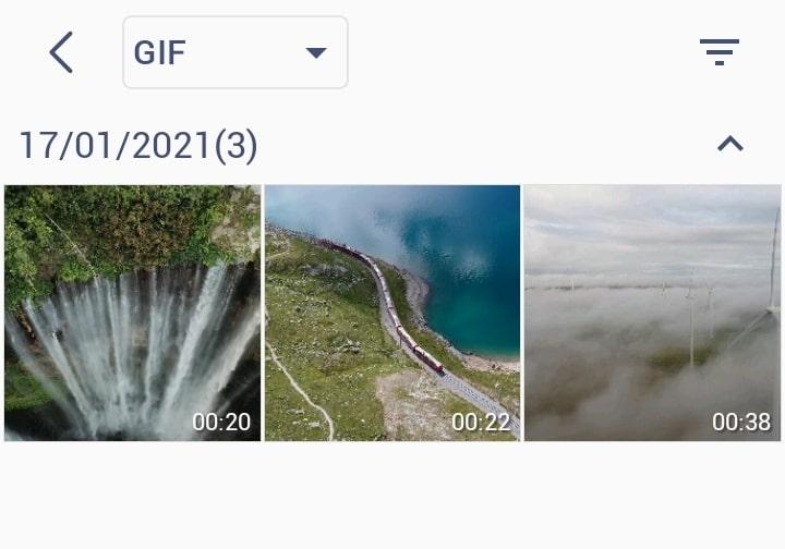 Выбор видео файлов для создания Gif файла